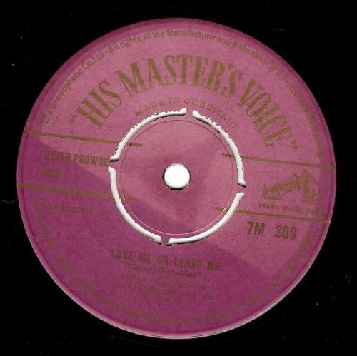 LENA HORNE Love Me Or Leave Me Vinyl Record 7 Inch HMV 1955